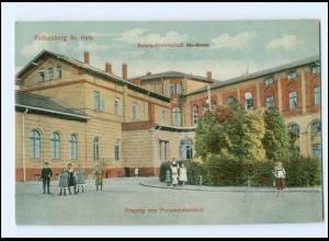 XX01173-048./ Falkenberg Bez. halle Bahnhof Eingang zum Personenbahnhof Ak 1911