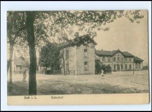 XX00374/ Duß in Lothringen Bahnhof AK 1918
