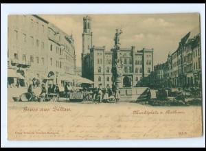 XX00481-027./ Gruß aus Zittau Marktplatz AK 1899