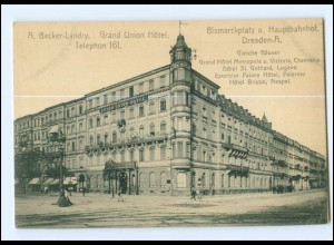XX00478/ Dresden Grand Union Hotel Bismarckplatz AK ca.1910