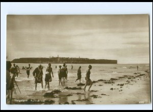 XX00499/ Helgoland Badestrand Düne Foto AK ca.1930