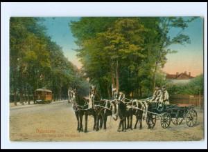 XX00807/ Debreczen Straßenbahn Kutsche Ungarn AK 1915