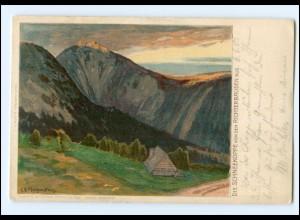 XX00436/ Riesengebirge Schneekoppe C. E. Morgenstern Litho AK 1905