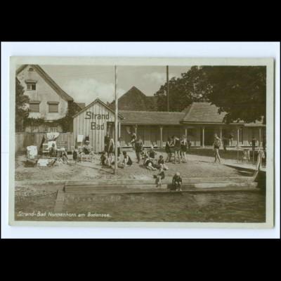 XX00416-8993/ Strandbad Nonnenhorm Bodensee Foto AK ca.1930