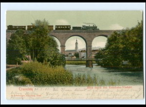 XX00307-8220/ Traunstein Eisenbahn-Viadukt AK 1905