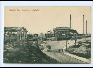 XX00563-047./ Mügeln Bez. Dresden Bahnhof AK ca.1912