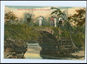 XX00549/ Ancient Spanish Bridge at Old Panama AK 1912