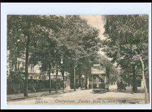 XX00528/ Cheltenham London Road Tram Straßenbahn AK 1907