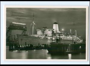 XX00622/ Hamburg Hafen Dampfer Arcadia Nachtaufnahme Foto AK
