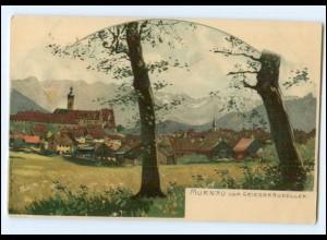 XX00616-8110/ Murnau schöne Litho AK ca.1900