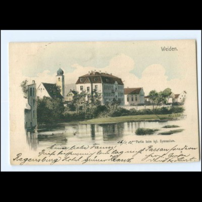 XX00617-8480/ Weiden Kgl. Gymnasium Eugen Felle Ak 1905