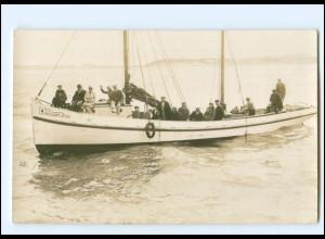 XX00684/ Fahrt von Norddorf Amrum nach Hallig Hooge 1929 Foto AK