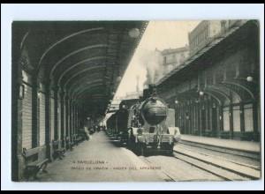 XX00141/ Barcelona Bahnhof Lokomotive Paseo de Gracia AK