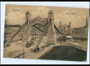 XX00219/ Breslau Kaiserbrücke Straßenbahn AK 1911