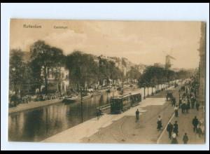 XX00234/ Rotterdam Coolsingel Straßenbahn AK 1913