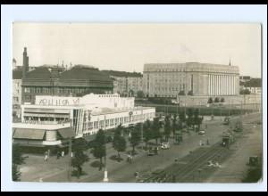 XX00638/ Helsinki Helsingfors Straßenbahn Foto AK 1939 Finnland
