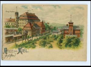 XX00640/ Gruß aus Kiel Halt gegen Licht Meteor Litho AK 1899