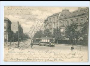 XX008849/ Hamburg Hohenfelde Buchtstraße Straßenbahn AK 1898