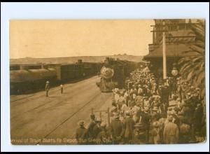 XX00866/ San Diego Cal. Train Santa Fe Depot Bahnhof 1920 USA
