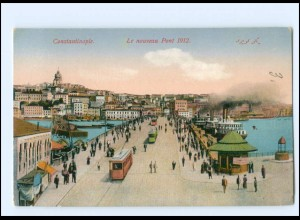 #067/ Constantinople Türkei AK Straßenbahn ca.1912