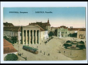 XX00240/ Subotica Pozoiste Straßenbahn Serbien AK 1926