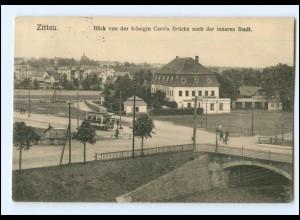 XX002088-027./ Zittau Blick von der Königin Carola Brücke 1914 AK