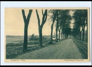 XX01065/ Wangerin in Pommern Freienwalder Chaussee AK 1934 + Bahnpost
