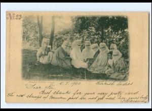 XX00948/ Türkei AK verschleierte Frauen Burka 1900 AK Constantinople Öst. Post