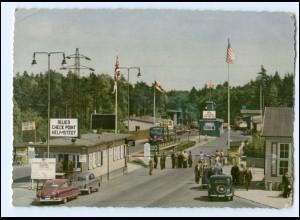 XX00920/ Helmstedt Autobahn DDR Grenze Zonengrenze AK 1955
