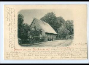 XX001631-2057/ Gruß aus dem Sachsenwald Forsthaus Wildpark Ak 1899