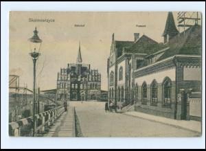 XX001545/ Skalmierzyce Bahnhof Postamt AK 1916 Posen