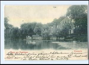 XX001493/ Gumbinnen Flußpartie AK 1903 Ostpreußen