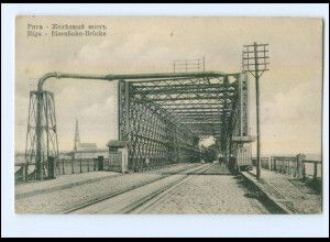 XX001497/ Riga Eisenbahn-Brücke Lettland AK ca.1912