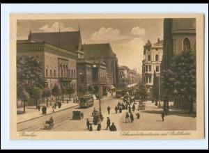 XX001506/ Breslau Schweidnitzerstr. Straßenbahn AK Schlesien ca.1925