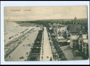 XX001508/ Swinemünde Promenade Pommern AK 1909