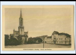 XX001666-167./ Fürstenberg Kirche und Rathaus AK ca.1925