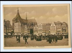 XX001657/ Rostock Marktplatz AK ca.1925