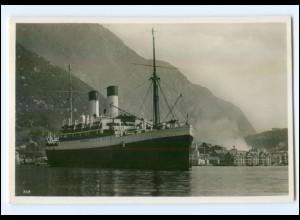 XX001340/ Dampfer Monte Olivia vor Odda Norwegen Foto Ak ca.1935