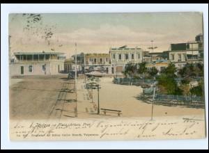 XX001231/ Jquique Plaza Arturo Prat. Pferdebahn Chile AK 1907