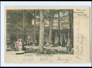 XX001226-162./ Eberswalde Wasserdall Restaurant AK 1904