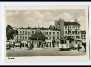 XX001330/ Rostock Straßenbahn Foto AK 1955