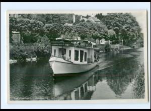 XX001362-8730/ Bad Kissingen Saalepartie Schiff Boot Foto Ak 1937