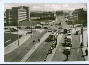 XX01191/ Kassel Kreuzung am Altmarkt Autos Straßenbahn AK 1958