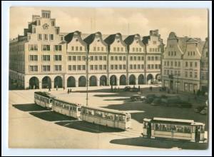 XX01187/ Rostock Hauptpostamt Straßenbahn Foto AK 1961