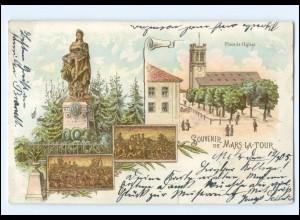 Y9943/ Souvenir de Mars-La.Tour Litho AK 1905