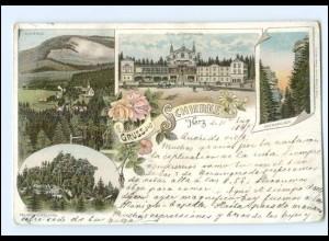 Y9944/ Gruß aus Schierke Hotel Fürstenhof Litho AK 1897