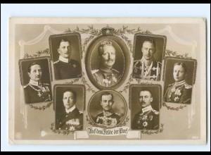 Y9935/ Kaiser Wilhelm Auf dem Felde der Ehre! Foto AK 1. Weltkrieg