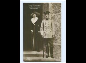 Y9934/ Herzog Ernst August mit Gemahlin Foto AK ca.1912