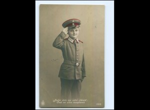 U3673/ Kind in Uniform Foto AK 1916 1. Weltkrieg