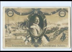 Y10101/ Kaiser Wilhelm 1888-1913 Kriegsschiffe Foto AK 1913